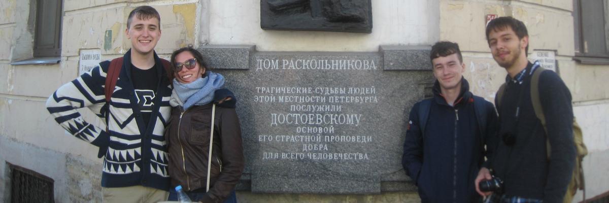 Students at Raskolnikov House in St. Petersburg